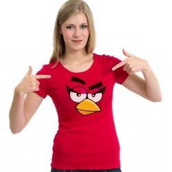 Dámske tričko červené Angry Birds