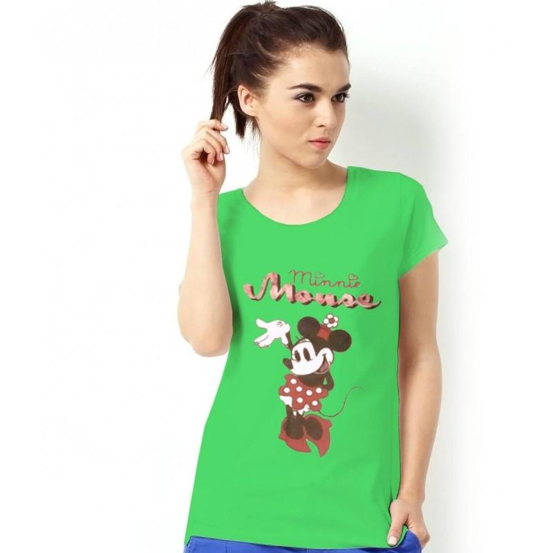 Tričko Minnie Dámske zelené