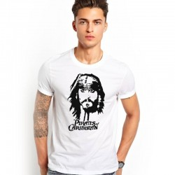 Tričko Piráti karibiku pánske biele