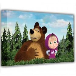 Obraz na stenu Máša a medveď