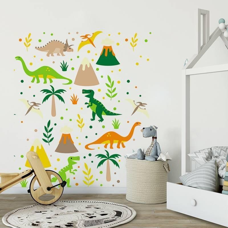 Nálepky na stenu dinosaurus