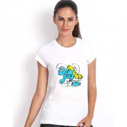 Dámske tričko biele Šmolkovia