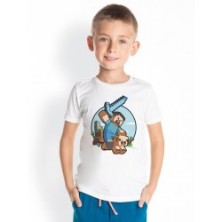 Detské tričko MINECRAFT biele