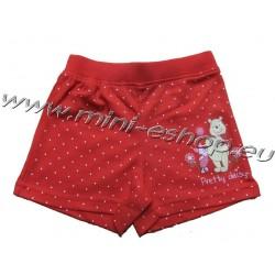 Šortky Macko Pooh-červená