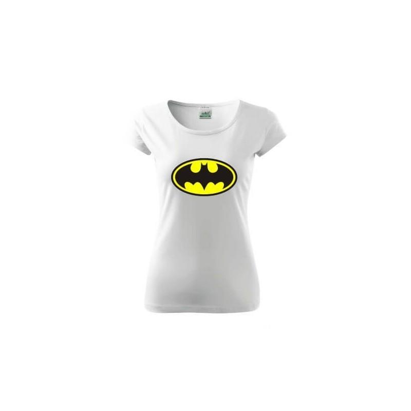 Dámske tričko Batman biele