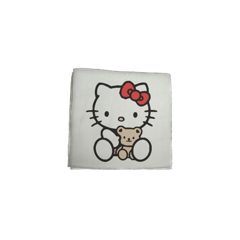 Textilná plienka Hello Kitty -biela
