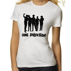 f65605cfe065 Dámske tričko One Direction biele