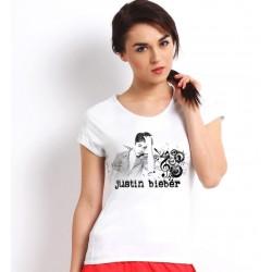 Dámske tričko Justin Bieber biele