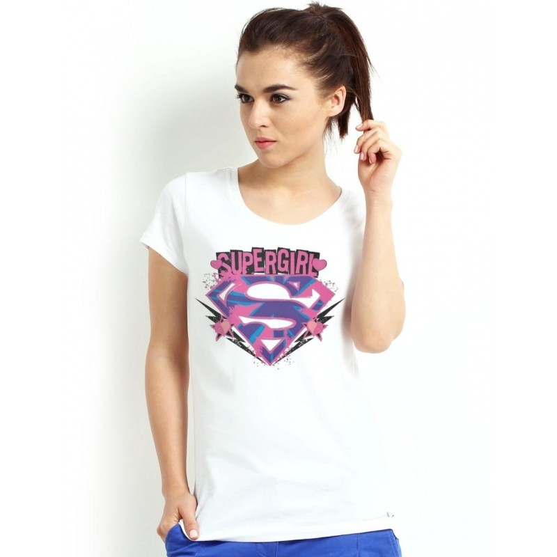 Dámske tričko Supergirl biele
